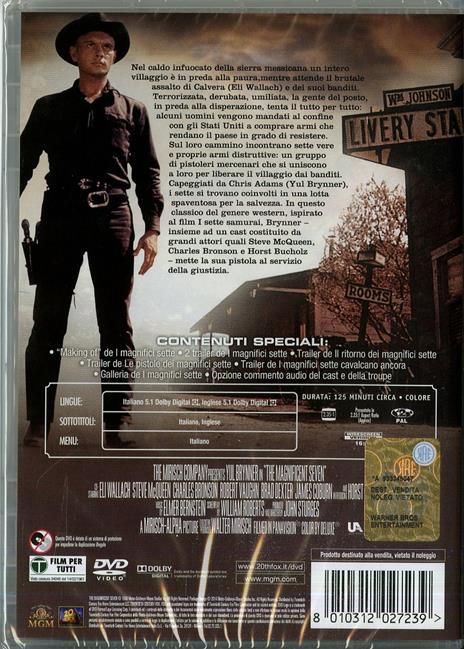 I magnifici Sette di John Sturges - DVD - 2