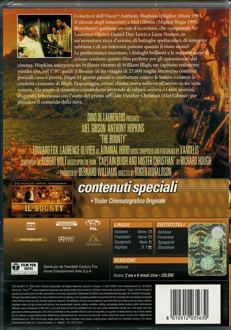Il Bounty di Roger Donaldson - DVD - 2