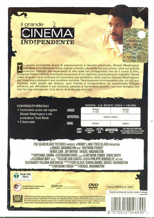 Antwone Fisher di Denzel Washington - DVD - 2