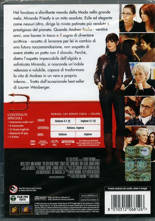 Il diavolo veste Prada di David Frankel - DVD - 2