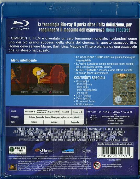 I Simpson. Il film di David Silverman - Blu-ray - 2