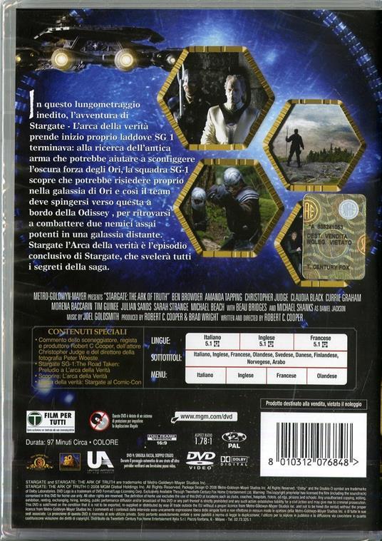 Stargate. L'arca della verità di Robert C. Cooper - DVD - 2