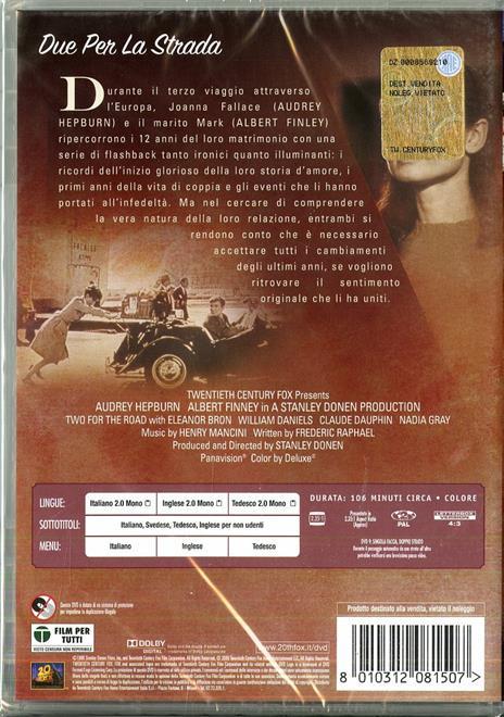 Due per la strada di Stanley Donen - DVD - 2