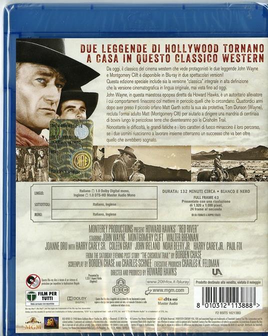 Fiume rosso di Howard Hawks - Blu-ray - 2