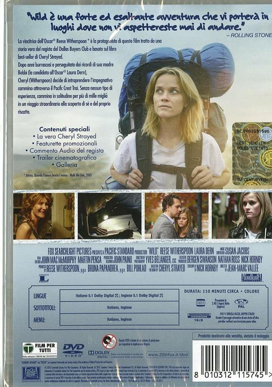 Wild di Jean-Marc Vallee - DVD - 2