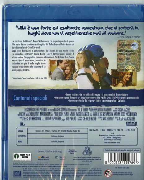 Wild di Jean-Marc Vallee - Blu-ray - 2
