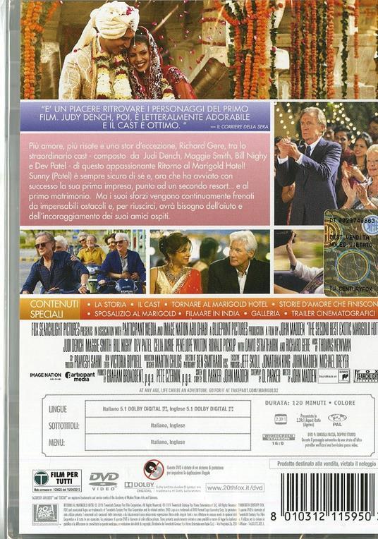 Ritorno al Marigold Hotel di John Madden - DVD - 2