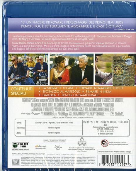 Ritorno al Marigold Hotel di John Madden - Blu-ray - 2