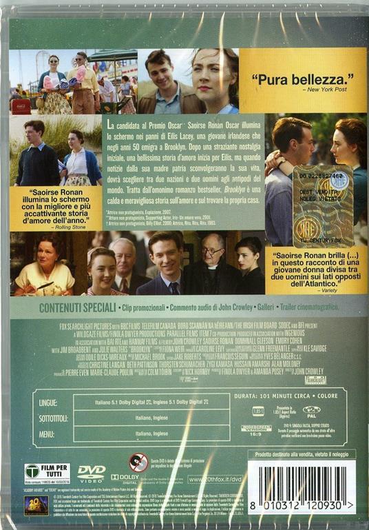 Brooklyn di John Crowley - DVD - 2