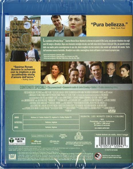 Brooklyn di John Crowley - Blu-ray - 2