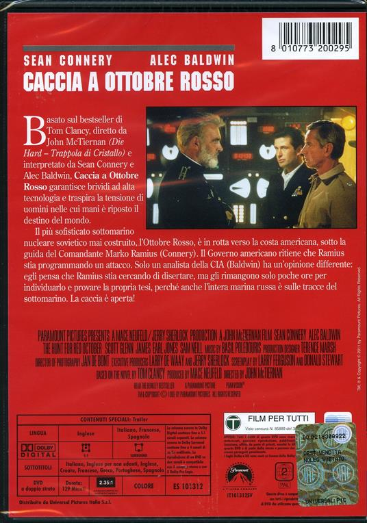 Caccia a Ottobre Rosso di John McTiernan - DVD - 3