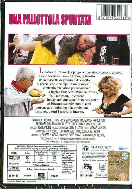 Una pallottola spuntata di David Zucker - DVD - 2