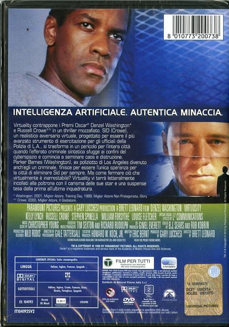 Virtuality di Brett Leonard - DVD - 2