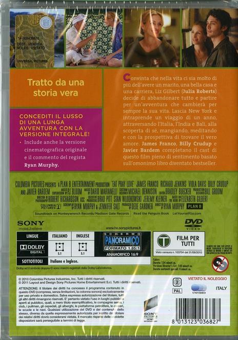 Mangia, prega, ama (DVD) di Ryan Murphy - DVD - 2