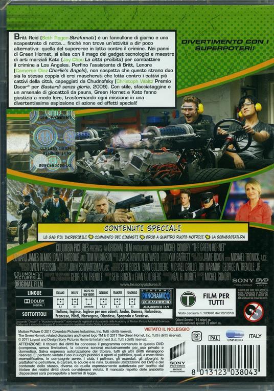 The Green Hornet di Michel Gondry - DVD - 2