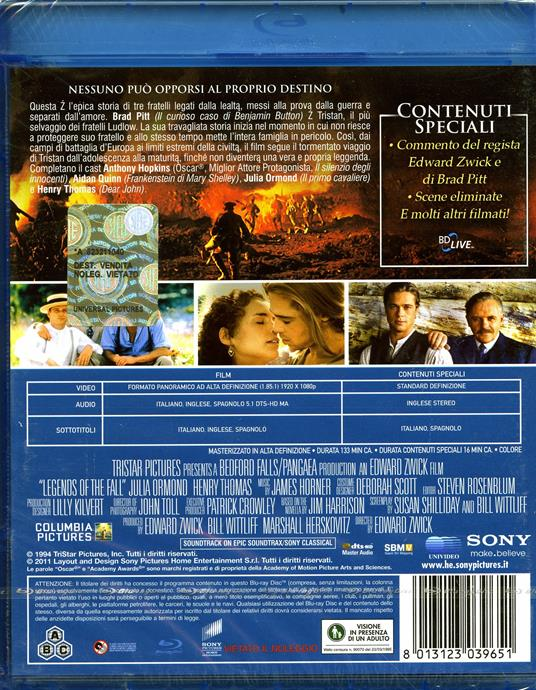 Vento di passioni di Edward Zwick - Blu-ray - 2
