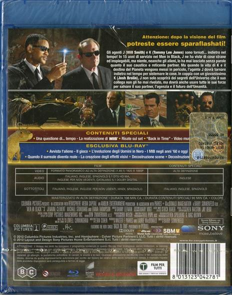 Men In Black 3. MIB di Barry Sonnenfeld - Blu-ray - 2