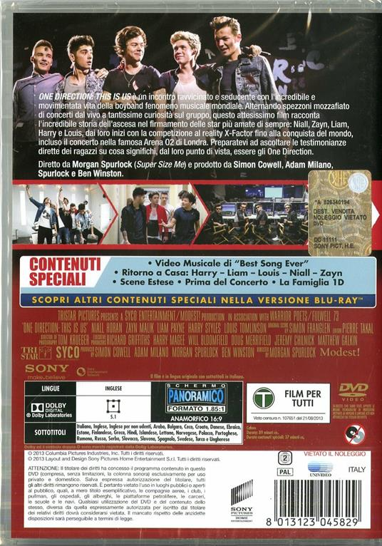 One Direction. This Is Us di Morgan Spurlock - DVD - 3