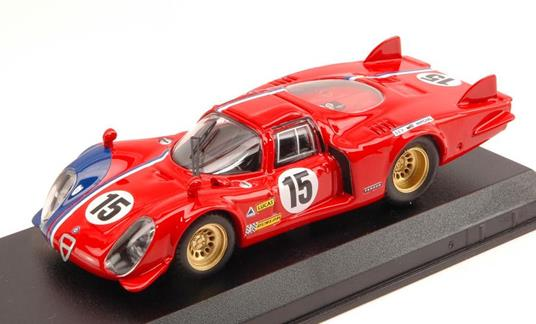 Alfa Romeo 33.2 Lm #15 Lm Test 1969 Pilette / Slotemaker 1:43 Model Bt9612 - 2