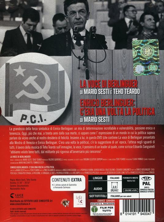 La voce di Berlinguer di Mario Sesti,Theo Teardo - DVD - 2
