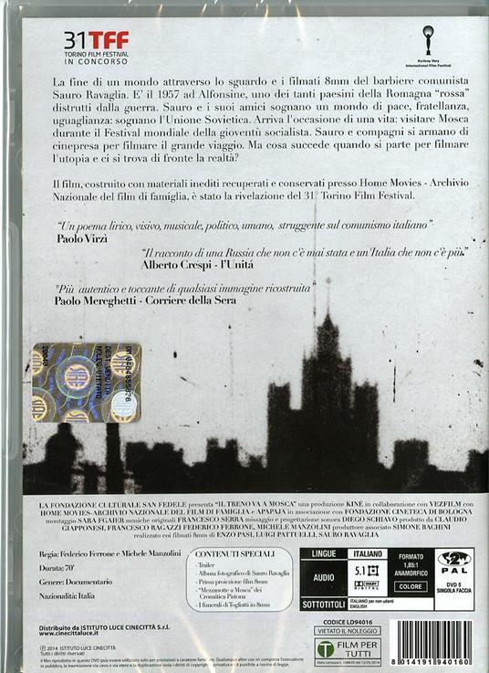 Il treno va a Mosca di Federico Ferrone,Michele Manzolini - DVD - 2