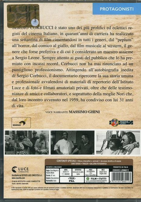 Sergio Corbucci. L'uomo che ride di Gioia Magrini,Roberto Meddi - DVD - 2