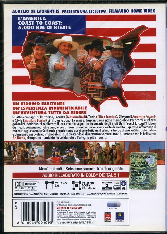 Sognando la California di Carlo Vanzina - DVD - 2