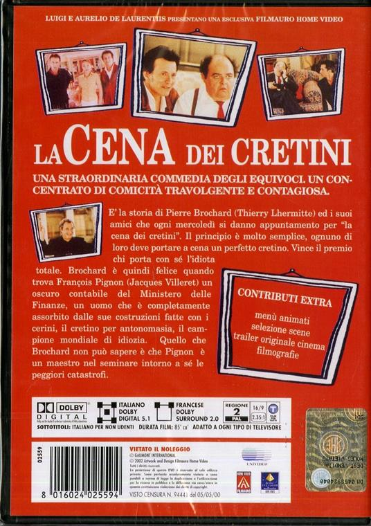 La cena dei cretini di Francis Veber - DVD - 2