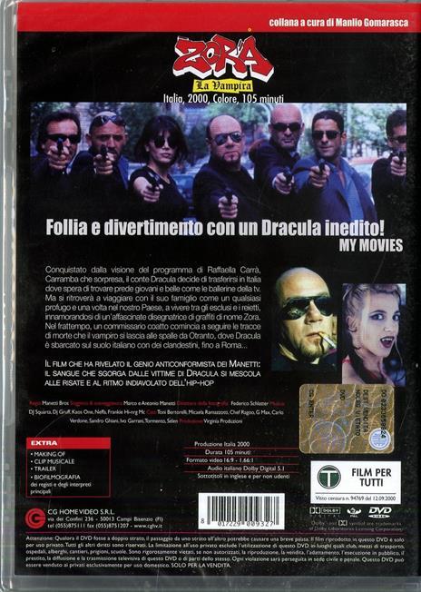 Zora la vampira di Manetti Bros. - DVD - 2