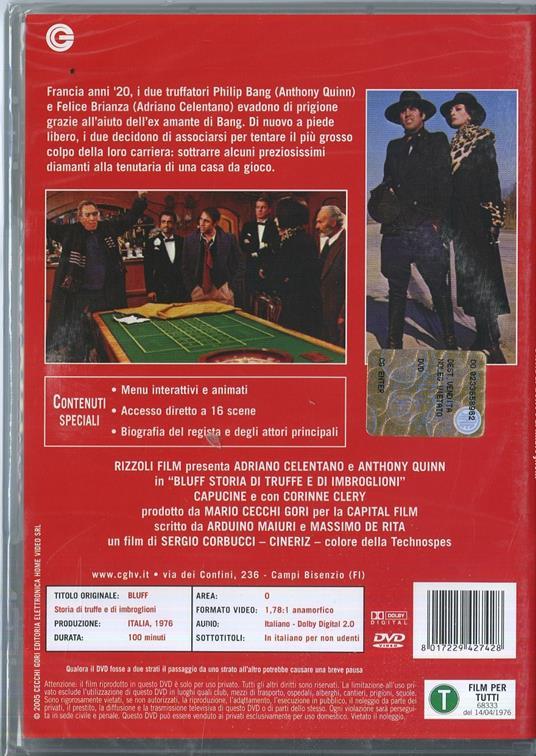 Bluff, storia di truffe e di imbroglioni di Sergio Corbucci - DVD - 2