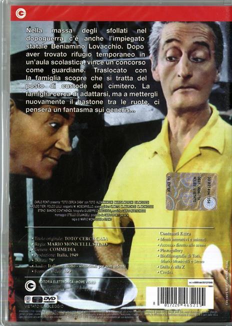 Totò cerca casa di Mario Monicelli,Steno - DVD - 2