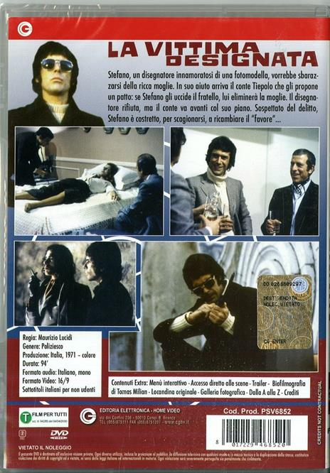 La vittima designata di Maurizio Lucidi - DVD - 2