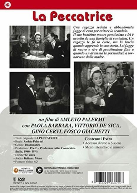 La peccatrice di Amleto Palermi - DVD - 2