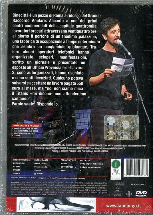 Parole sante di Ascanio Celestini - DVD - 2