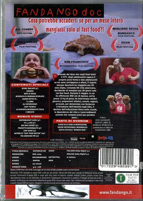 Super Size Me di Morgan Spurlock - DVD - 2