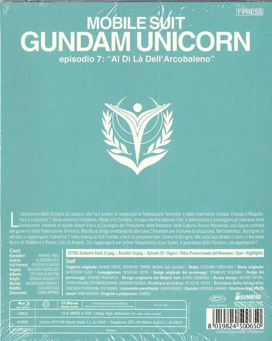 Mobile Suit Gundam Unicorn. Vol. 7. Al di là dell'arcobaleno di Kazuhiro Furuhashi - Blu-ray - 2