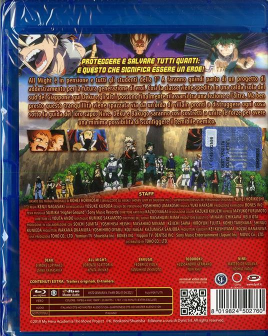 My Hero Academia: The Movie - Heroes: Rising di Kenji Nagasaki - Blu-ray - 2