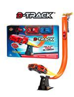 D-Track. Pista Con 2 Auto Rossa+Blu