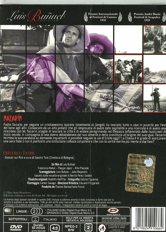 Nazarin di Luis Buñuel - DVD - 2