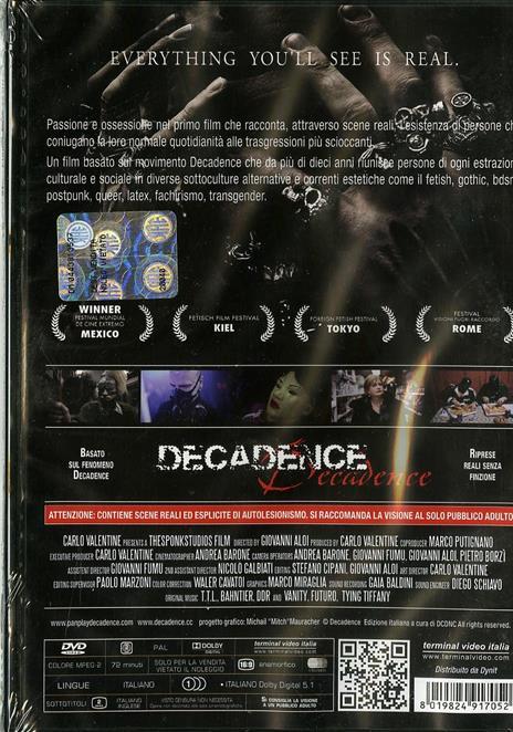 Pan Play Decadence di Giovanni Aloi - DVD - 2