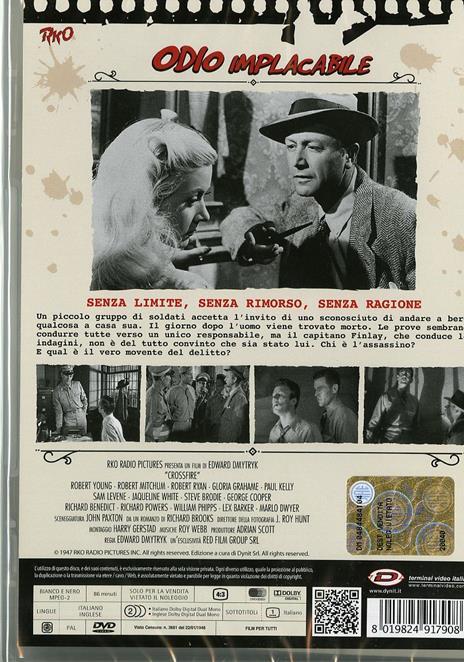 Odio implacabile di Edward Dmytryk - DVD - 2
