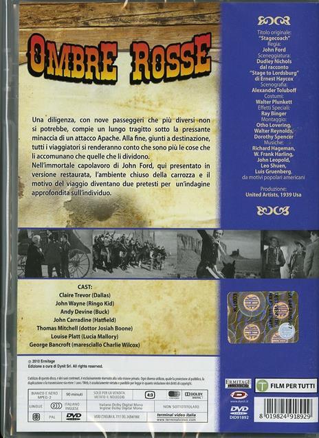 Ombre rosse di John Ford - DVD - 2