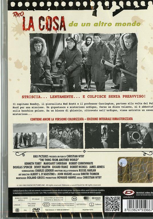 La cosa da un altro mondo di Christian Nyby,Howard Hawks - DVD - 2