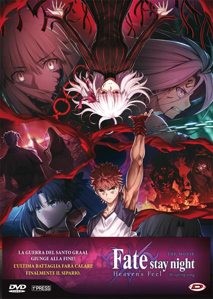 Fate/Stay Night - Heaven's Feel 3. Spring Song (First Press) (DVD) di Sudo Tomonori - DVD