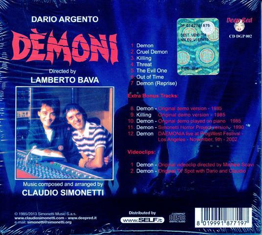 Demoni (Colonna sonora) - CD Audio di Claudio Simonetti - 2