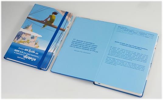 Taccuino a righe OpenWorld Lettura Copertina Rigida Peter Pan - 13x21 cm - 2