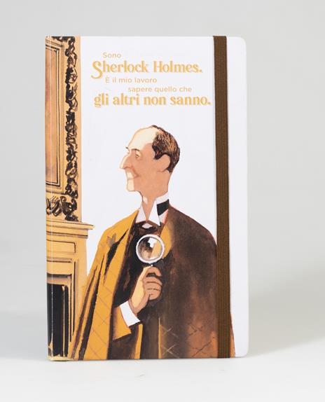 Taccuino a righe OpenWorld Lettura Copertina Rigida Sherlock Holmes - 13x21 cm