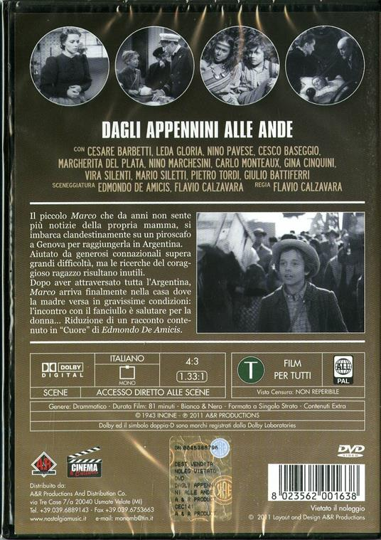 Dagli Appennini alle Ande di Flavio Calzavara - DVD - 2