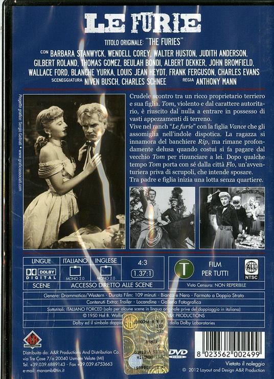Le furie di Anthony Mann - DVD - 2
