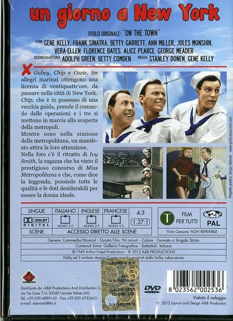 Un giorno a New York (DVD) di Gene Kelly,Stanley Donen - DVD - 2